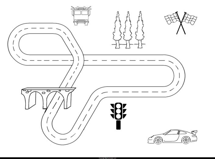modele gommette imprimer circuit voiture2