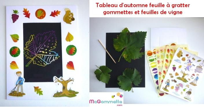 Carte d 39 automne avec empreinte de feuille d 39 arbre color e bricolages d 39 automne magommette - Bricolage d automne avec des feuilles d arbre ...