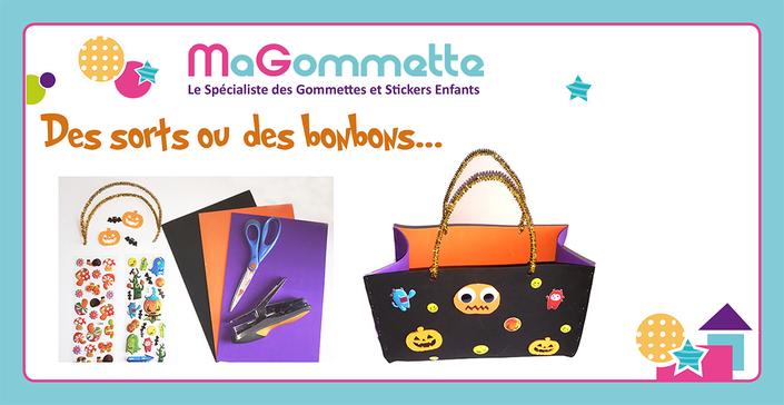 Un sac à bonbons pour Halloween, bricolage pour enfants
