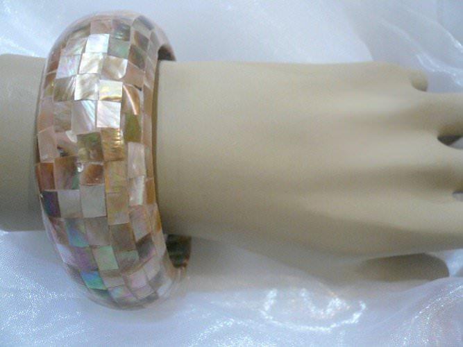 Bracelet nacre mosa que dor e - Mosaique doree ...