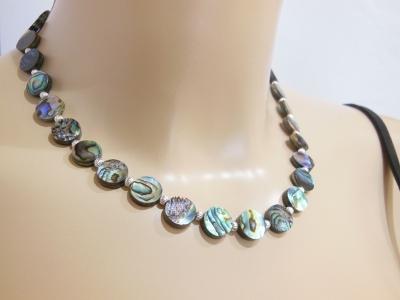 collier,abalone,nacre,paua,nouvelle,zelande,bijoux,DASQUE,