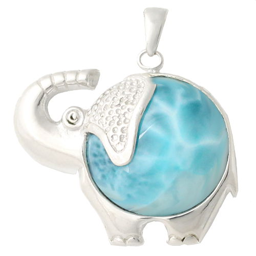 pendentif larimar argent el phant porte bonheur haut 3cm. Black Bedroom Furniture Sets. Home Design Ideas