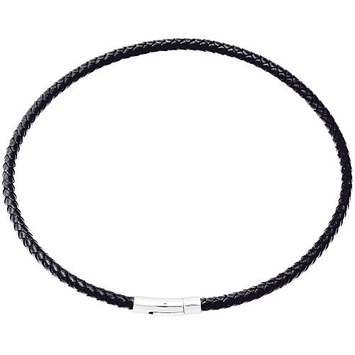 collier cordon cuir homme