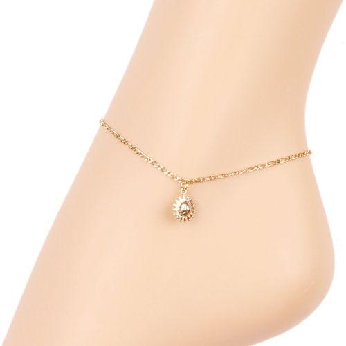 bracelet cheville femme plaque or
