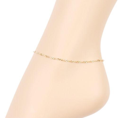 chaine de cheville plaqué or