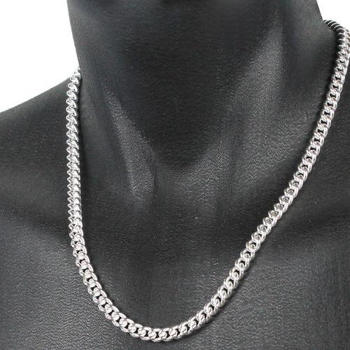 plus gros rabais Excellente qualité profiter du prix le plus bas Collier maille gourmette 7mm ronde, argent 925 + rhôdié (69-85g !) - 50 à  60cm