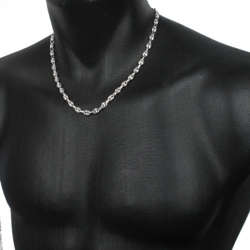 collier en argent grains de caf 8x10mm long 45 50 55 et 60cm. Black Bedroom Furniture Sets. Home Design Ideas
