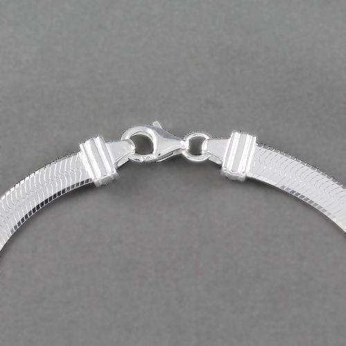 Bracelet maille miroir 5mm argent 925 option rh di 18cm for Miroir long argente