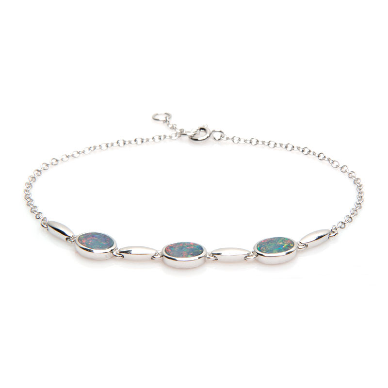 bracelet argent opale