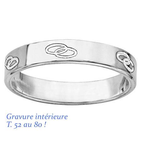 Quelque chose de nouveau assez Alliance 6mm anneaux entrelacés, en argent, T 52 au 80 ! +gravure &UY_36