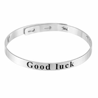 Jonc Good Luck, 5mm, régl. de 15.5 à 18.5cm, argent 925 (8g) +rhôdié