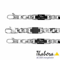 """Bracelet """"papa je/on t'aime"""", acier 8mm, 21cm, réglable"""