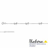Bracelet chevaux argent 925 rhôdié, 14 à 17cm