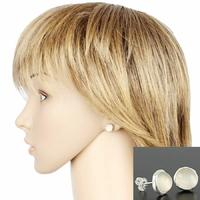 Boucles pierre de lune & argent 925, diamètre 1cm