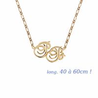 Collier 2 ou 3 initiales, longueur 40 à 60cm ! plaqué or