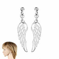 """Boucles """"ailes d'ange"""" en argent 925, hauteur 4.2cm"""