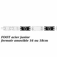 Bracelet foot Junior acier, 7mm, fermoir amovible 16 ou 18cm