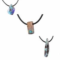 Pendentif Opale boulder & argent 925, modèle au choix - 45 à 50cm