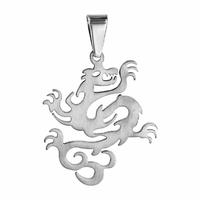 Pendentif Dragon en acier, hauteur 4cm