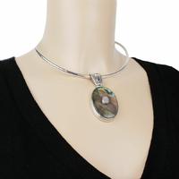 Pendentif labradorite, pierre de lune, grenat & argent 925, hauteur 6.8cm