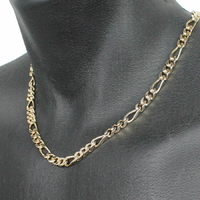 Collier Figaro 6mm - 50 à 60cm, plaqué or