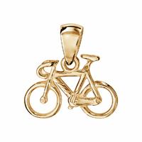 Pendentif vélo de course en Vermeil (or 18K s/ argent 925)