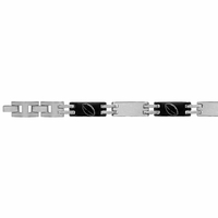 Bracelet rugby Junior 7mm - 16-18cm, acier bicolore