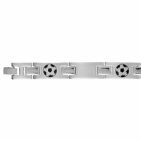 Bracelet ballons de foot large, 18 ou 20.5cm, acier