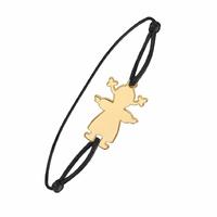 Bracelet fillette option gravure(s), plaqué or 18K
