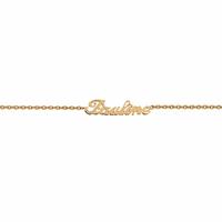 Bracelet prénom simple/composé, long. 17 à 22cm ! plaqué or