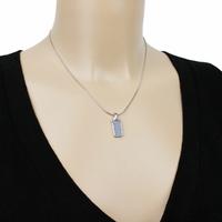 Pendentif Opale bleue & argent 925 rhôdié, photo contractuelle