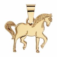 Pendentif cheval, haut. 2.5cm, plaqué Or 18K