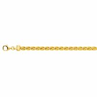 Bracelet maille palmier 4mm - 18cm, plaqué or 18K
