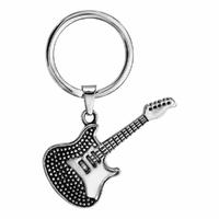 Porte clés Guitare électrique + gravure(s), acier