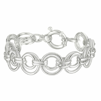 Bracelet anneaux d'1.6cm, longueur 20cm, argent 925 (18g)