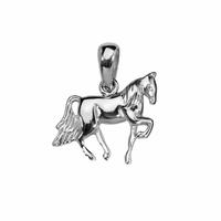 Pendentif cheval avec reliefs, argent 925, haut. 2cm
