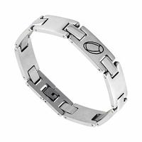 Bracelet rugby 12mm, acier, long. 18.5 ou 21cm