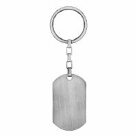 Porte clés + gravure, portrait, plaque 2.8x5cm, acier