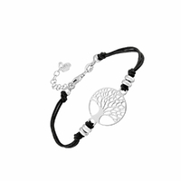 Bracelet arbre de vie - 16 à 20cm, couleur au choix, argent 925