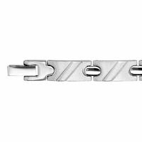 Bracelet diagonales en relief - long. 14 à 20cm, acier