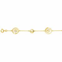 Bracelet infini, oxydes & plaqué or 18K, long. 18cm