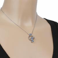 Collier Opale bleue & argent 925 rhodié - 40 à 60cm, au choix