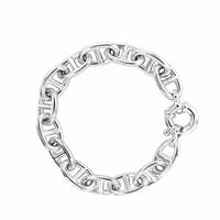 Bracelet maille marine 16x22mm - 19 ou 21cm, argent 925 (38 à 70g !)