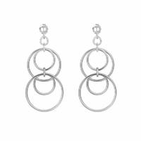 Boucles anneaux, argent 925 option rhodié, hauteur totale 5cm