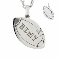 Pendentif rugby XV + gravure(s), acier