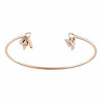 Bracelet Aventure, poignet jusque 15.5cm, Oxydes & plaqué Or Rose