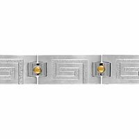 Bracelet acier & clous en Or, maillon amovible à 20 et 21,5cm