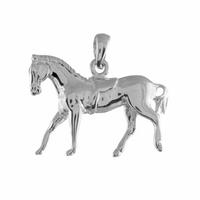 Pendentif cheval argent 925 rhôdié, 2.5cmx 2cm de haut