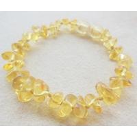 Bracelet ambre miel, noeuds intermédiaires et fermoir en ambre, longueur 15cm