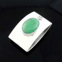 Pendentif turquoise & argent 925, hauteur 3.5cm, modèle au choix